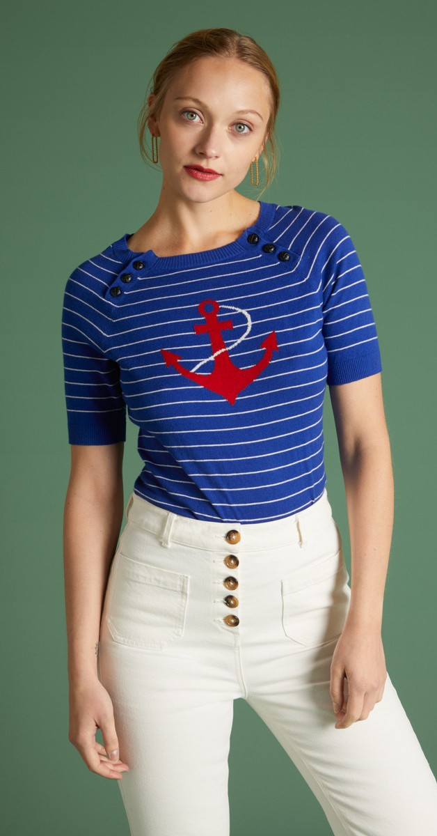 Retro Style Clothing - Sailor Top Capitano