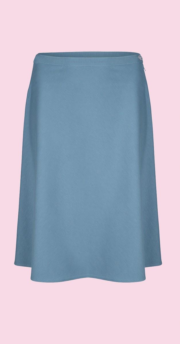 Vintage Fashion - A-Line Skirt - Ice Blue