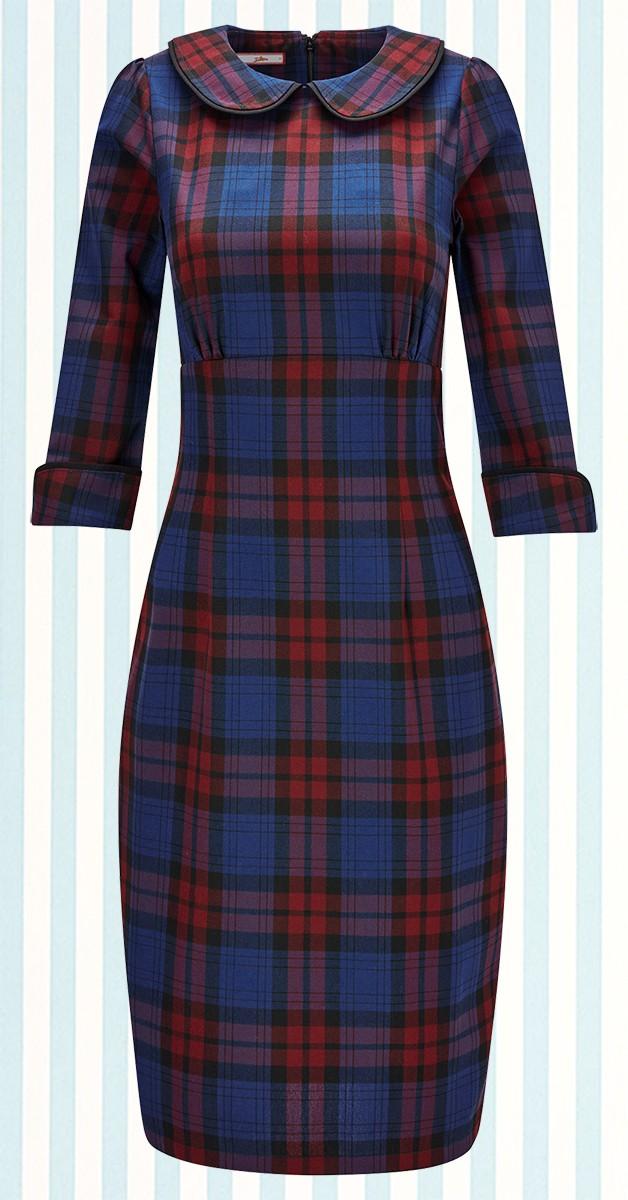 Vintage Bekleidung - Vintage Check Dress - Rot/Blau Kariert