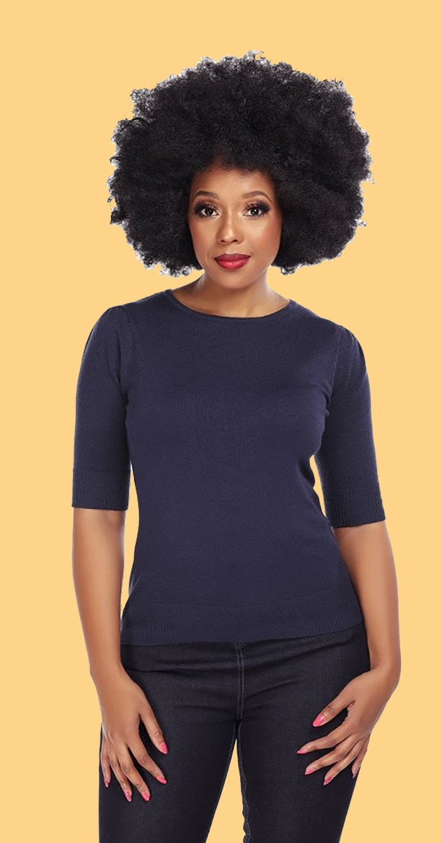 Vintage 50s Style Fashion - Chrissie 50s Top - Navy