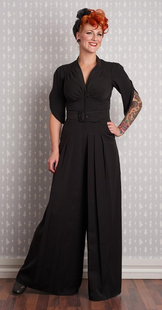 Vintage Clothing - Gigi-Gia - Pantskirt Jumpsuit - Black