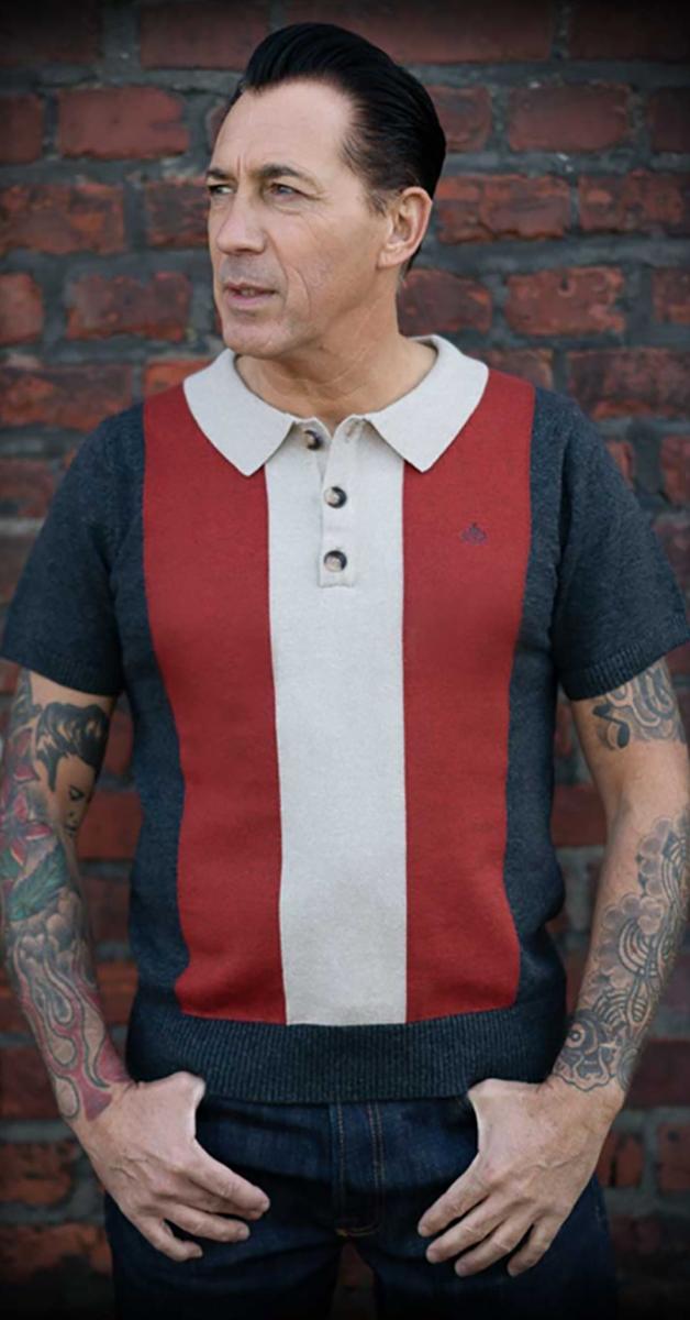 Rockabilly Strick Poloshirt Portland
