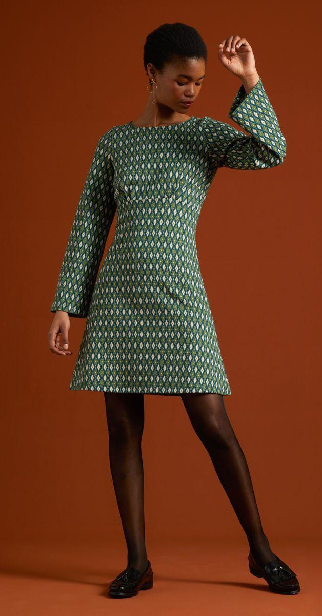 Retro Style Fashion - Duffy Dress Flared Sleeves Deuce