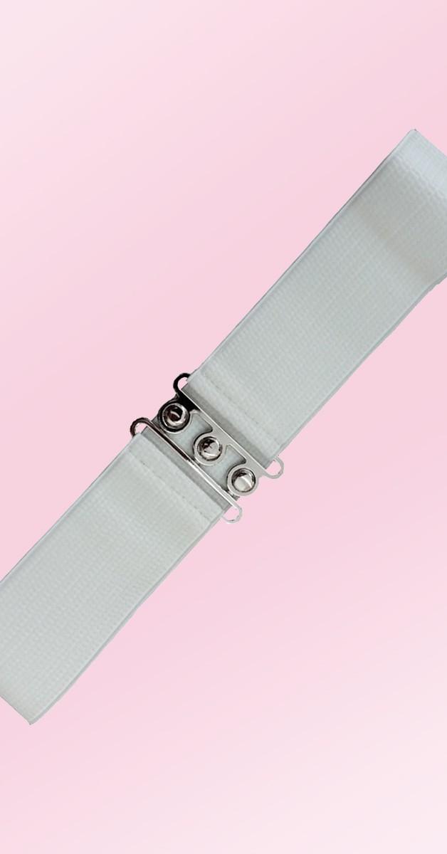 Pin Up Accessoires - 50er Jahre Gürtel - Weiß