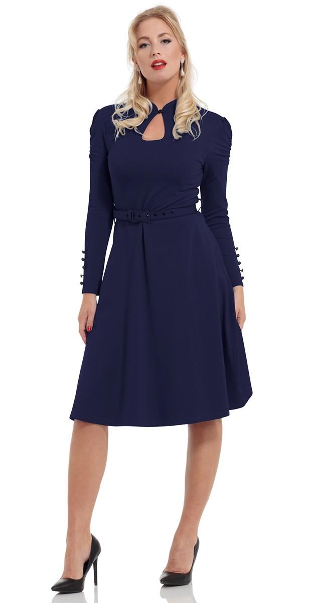 Vintage Stil Swing Dress -  Dita- Navy