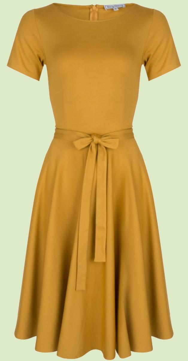 Vintage  Fashion - Ballerina Dress Mustard Punty