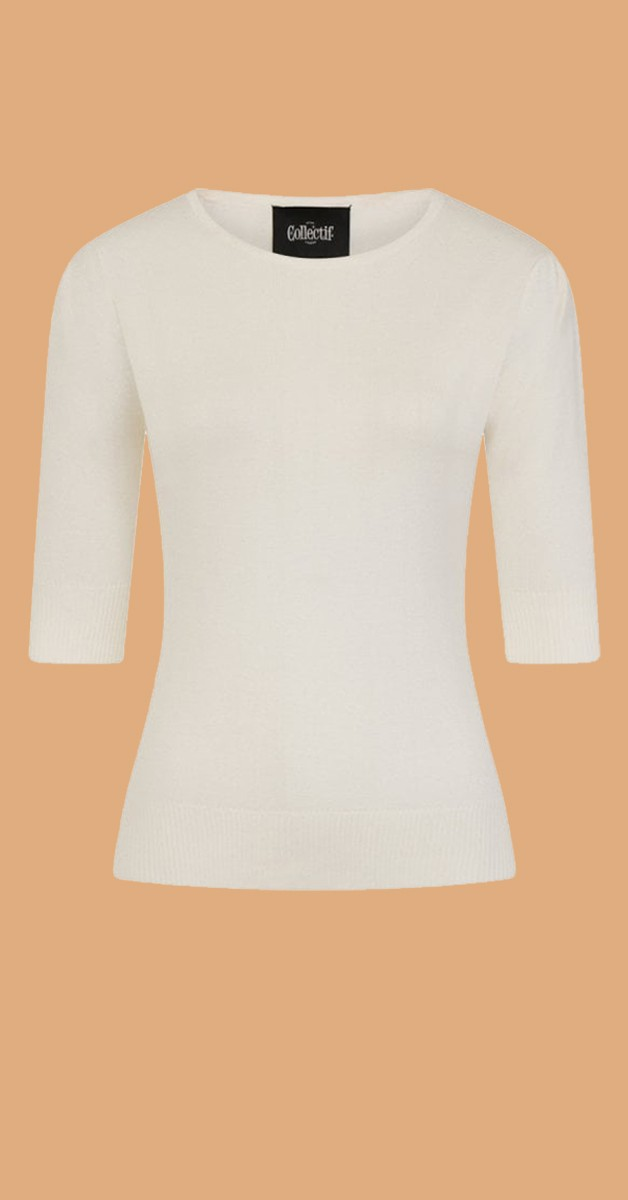 Vintage 50s Style Fashion - Chrissie 50s Top - Ivory