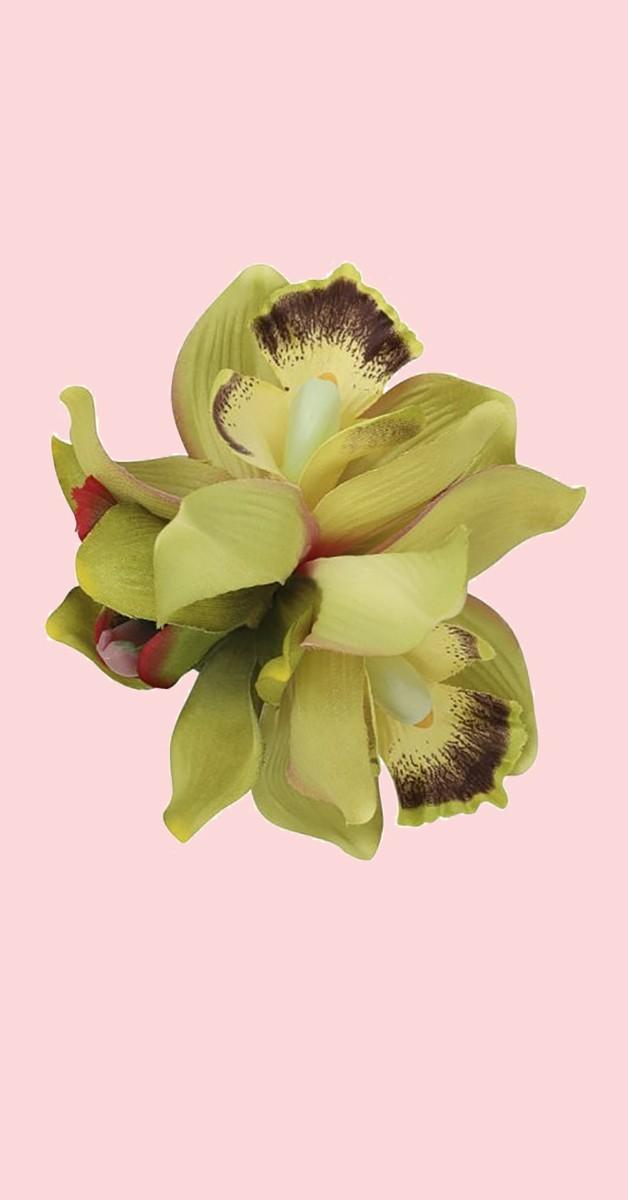 Pin Up Haarclip Aaliyah Orchid Hair Flower - Limette