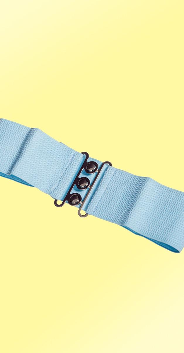 Pin Up Accessoires -50er Jahre Gürtel - Baby Blau