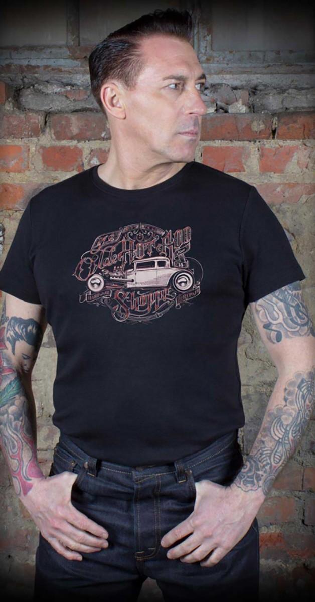 Rockabilly Clothing - T-Shirt - Ye Olde Hotrod Shoppe - Black