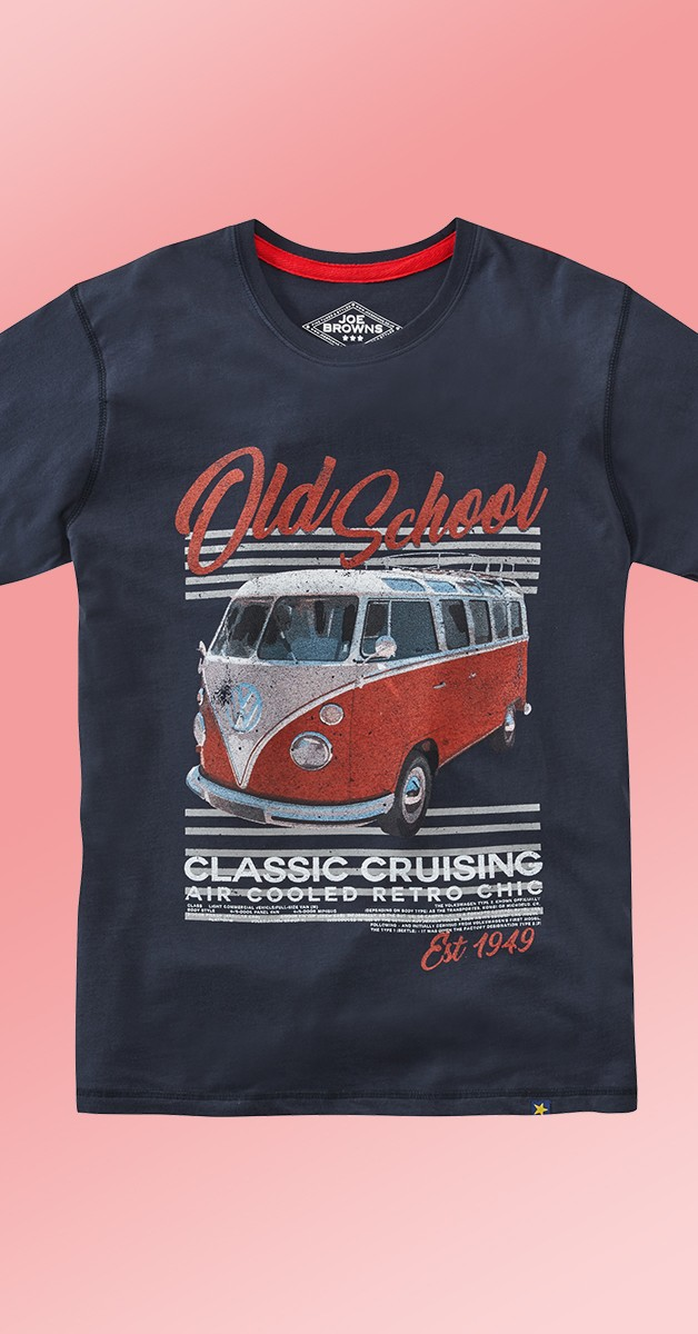 Rockabilly Fashion - VW Old School T-Shirt - Navy