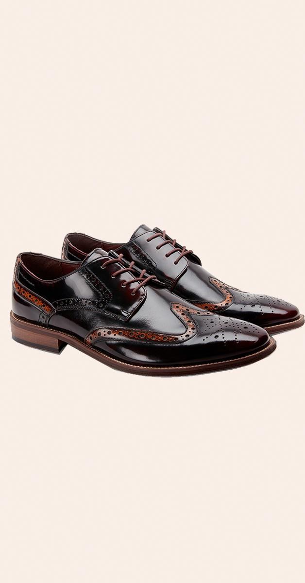 Vintage Style Shoes - High Shine Dapper Brogues