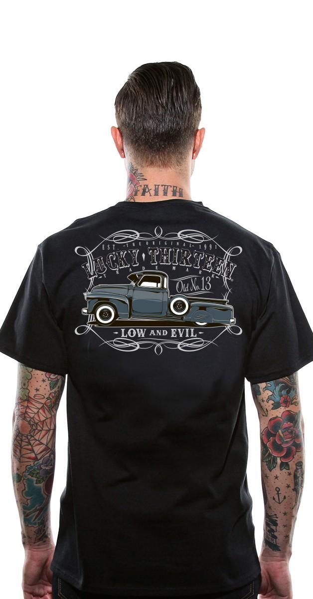 Rockabilly Clothing - Lucky 13 Men's T-Shirt - Dragger