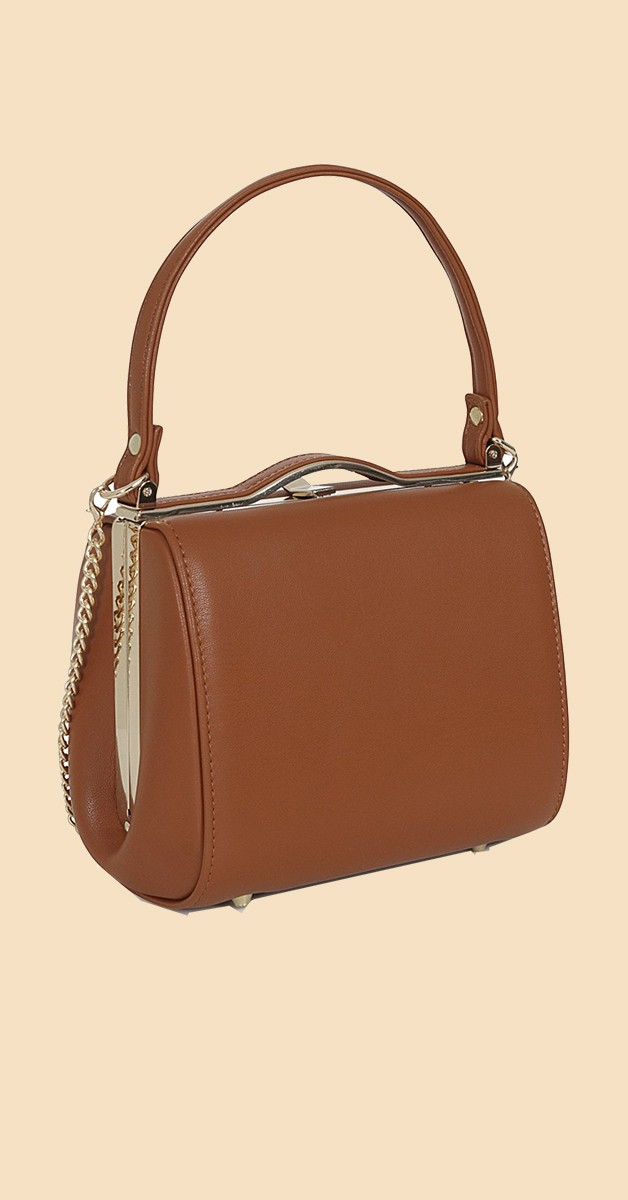 Vintage Retro Bag - Carrie Plain Bag - Brown