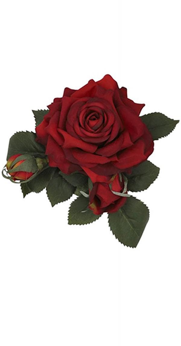 Pin Up Haarclip Luscious Rose Haar Blume-Rot