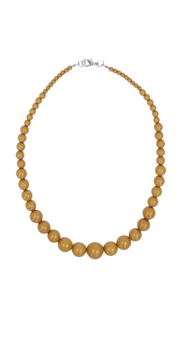 Vintage Stil Perle Kette - Kiria 40s Necklace- Senfgelb