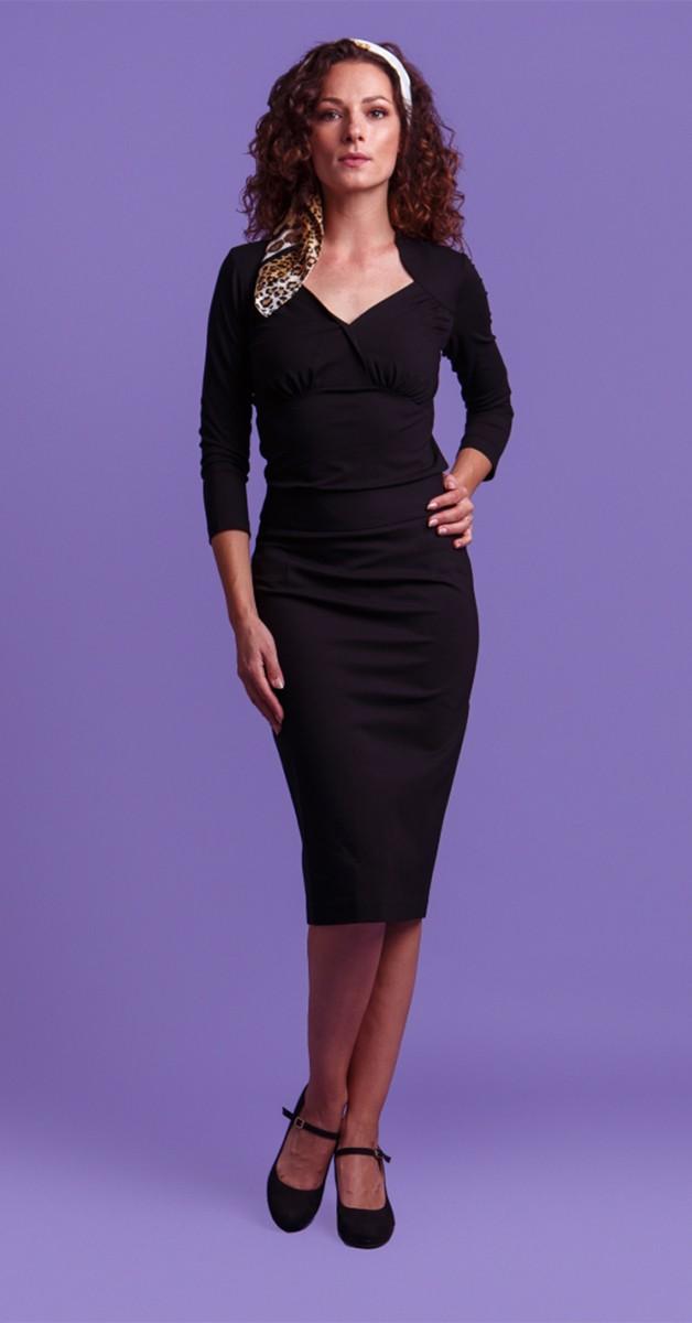 Vintage Mode - Bleistiftrock - Pencil Skirt Black