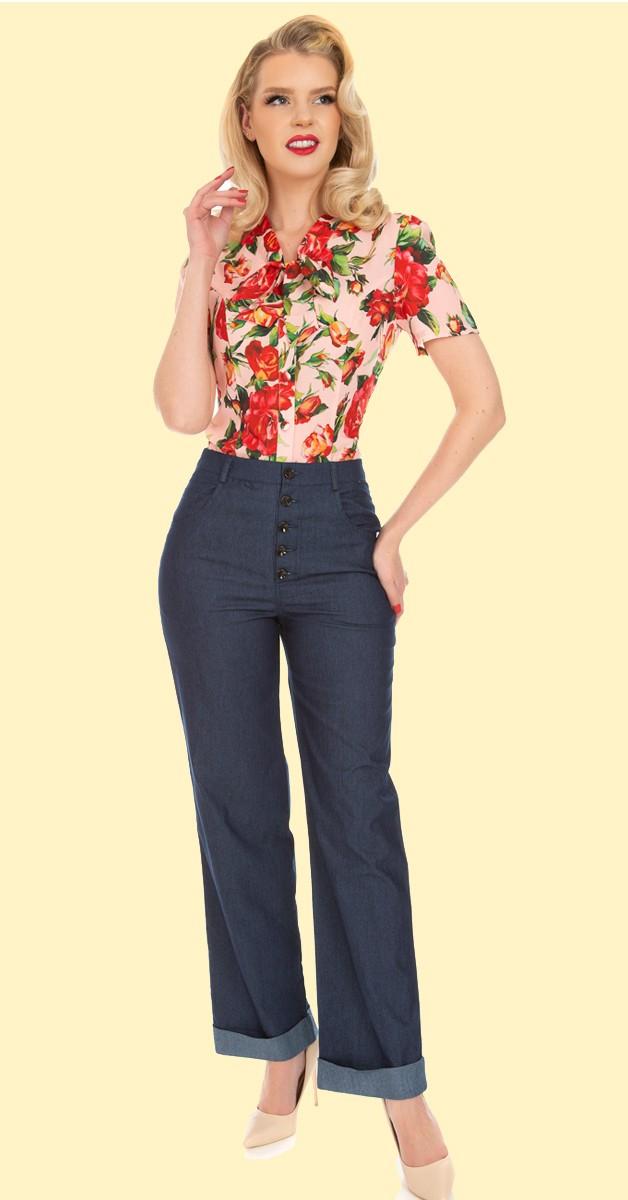 50er Retro Mode - Debbie Denim Jeans