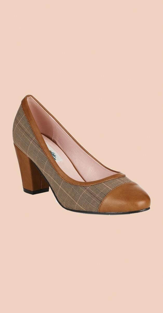 Vintage Stil Schuhe - Lena High Heel - Braun