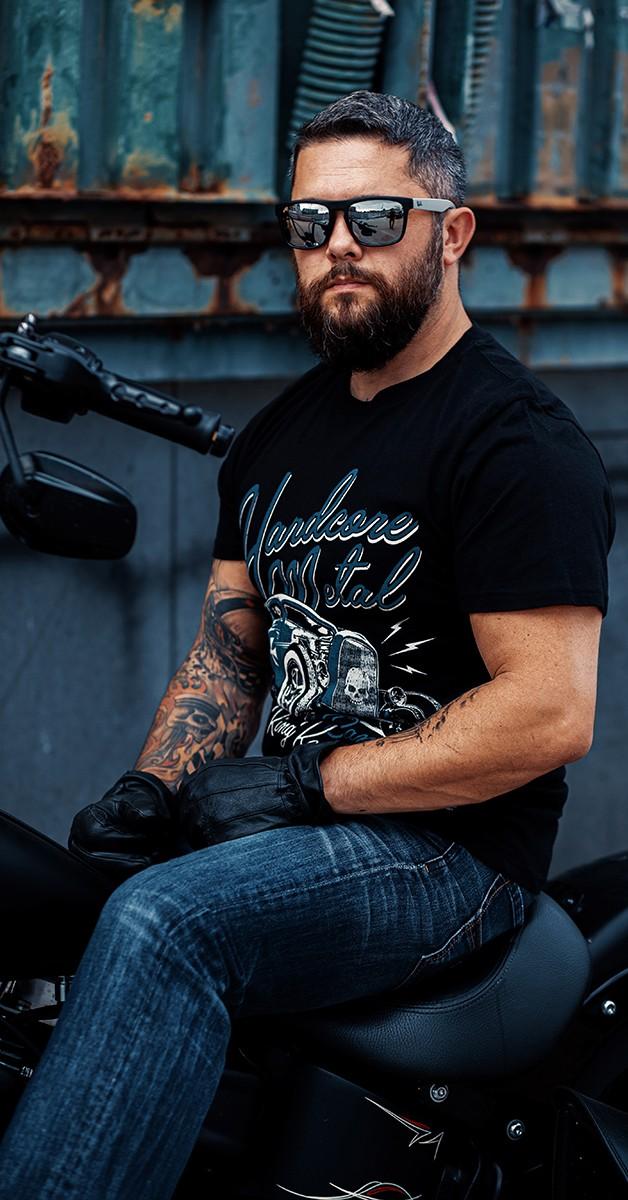 Rockabilly Clothing - T'shirt wit Retro Print -  Hardcore Metal