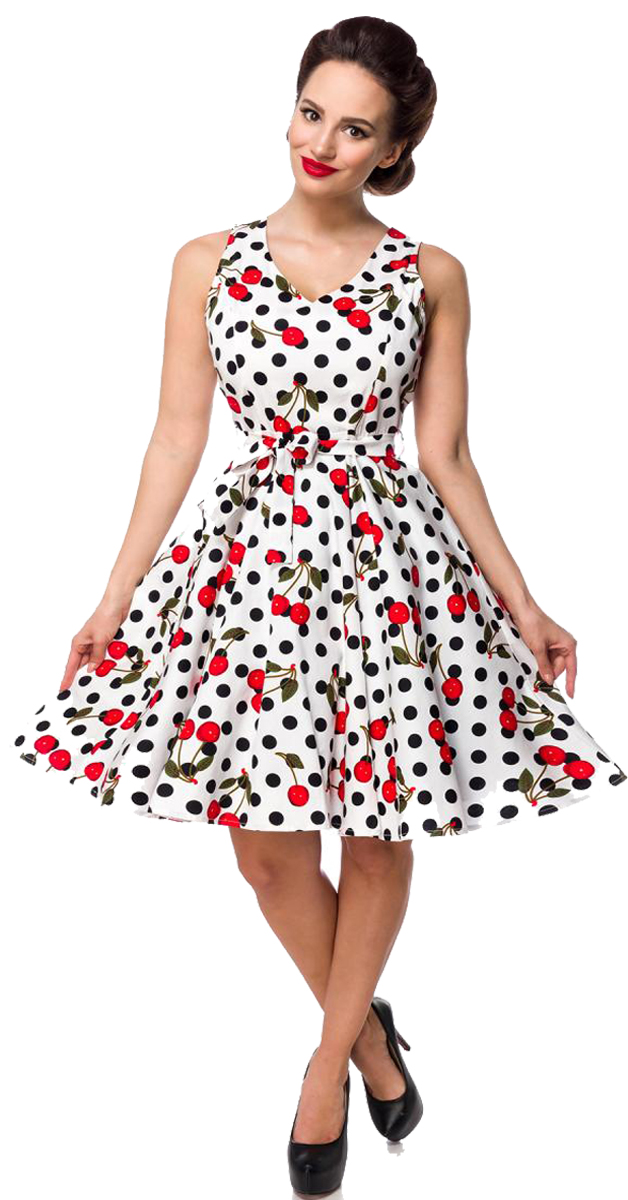 50s Dress With Dots & Cherry's