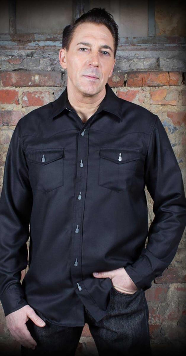 Rockabilly Mode - Classic Gentleman's Shirt - schwarz