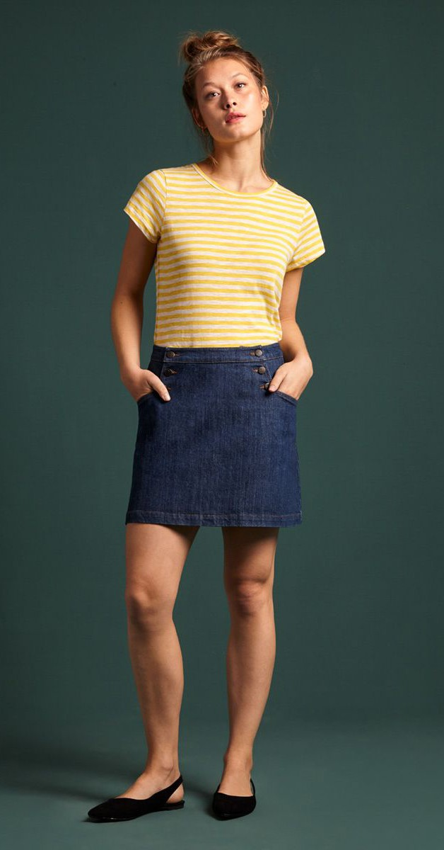Vintage Mode - Minirock - Sailor Skirt Organic Denim