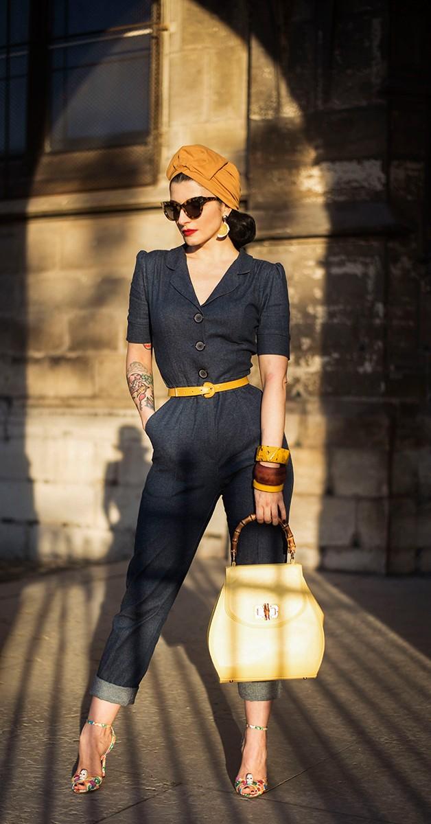 Vintage Clothing - Classic Jumpsuit - Dark Denim