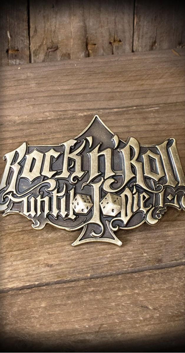 Rockabilly Accessories - Buckle - Rock'n'Roll Until I Die - Special Edition