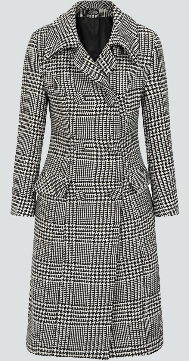 Vintage Stil Bekleidung -50s Isabella Houndstooth Mantel