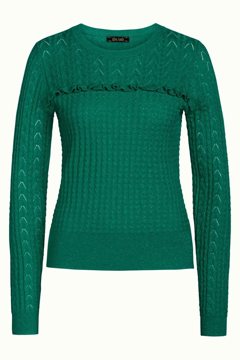 Vintage Clothing- Ruffle Top Adene - Green