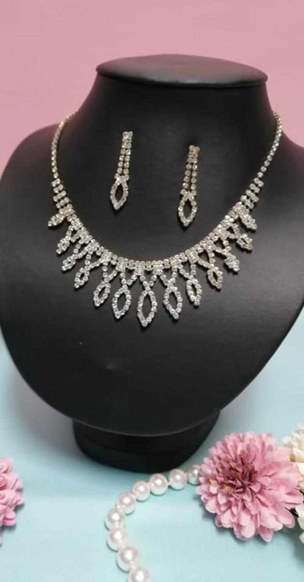 Vintage Schmuckset - Deco Diamante Jewellery Set