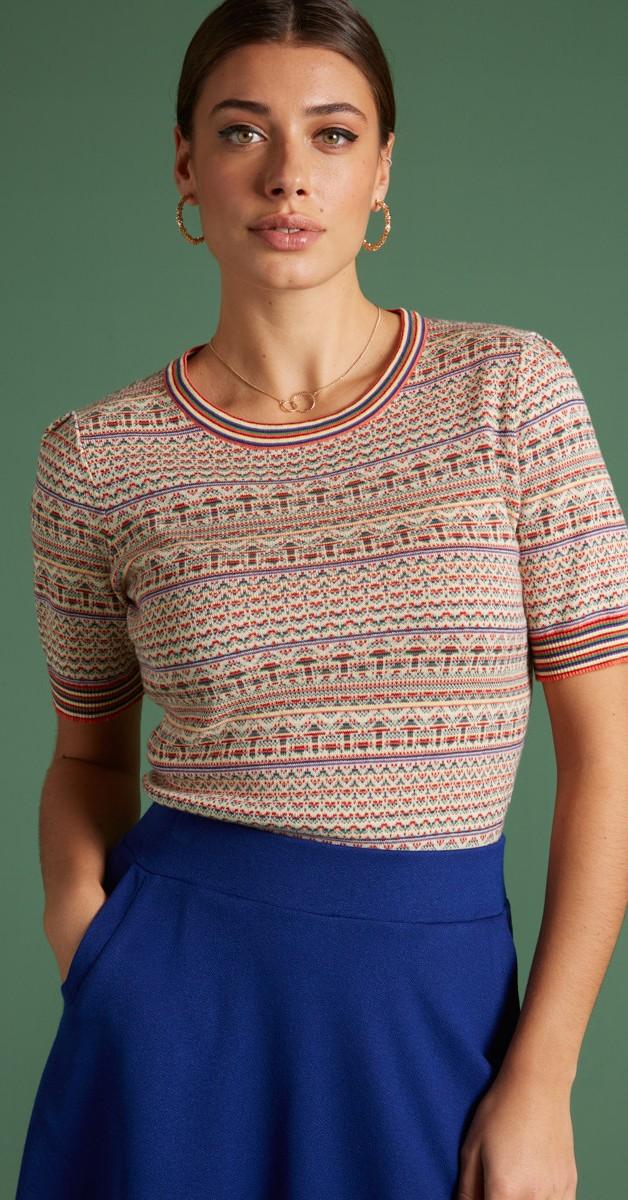 Retro Style Clothing - Agnes Top Hacienda