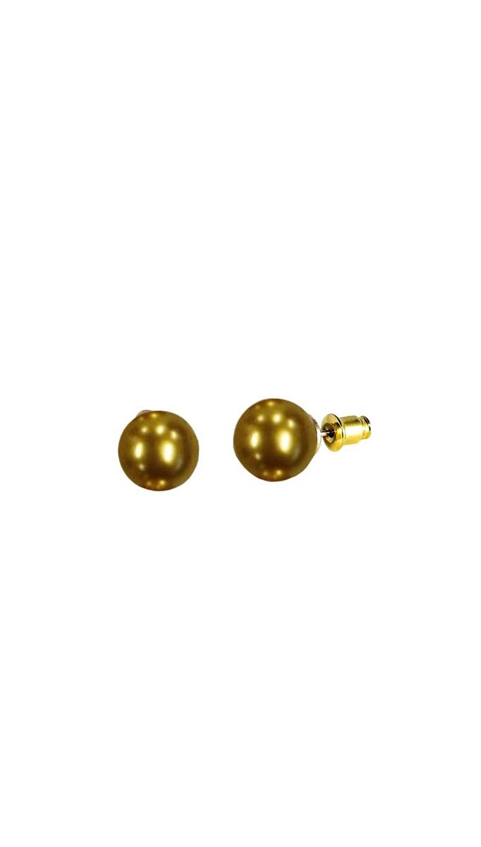 Vintage Retro Ohrstecker - Dainty Pearl Earrings - Goldfarben