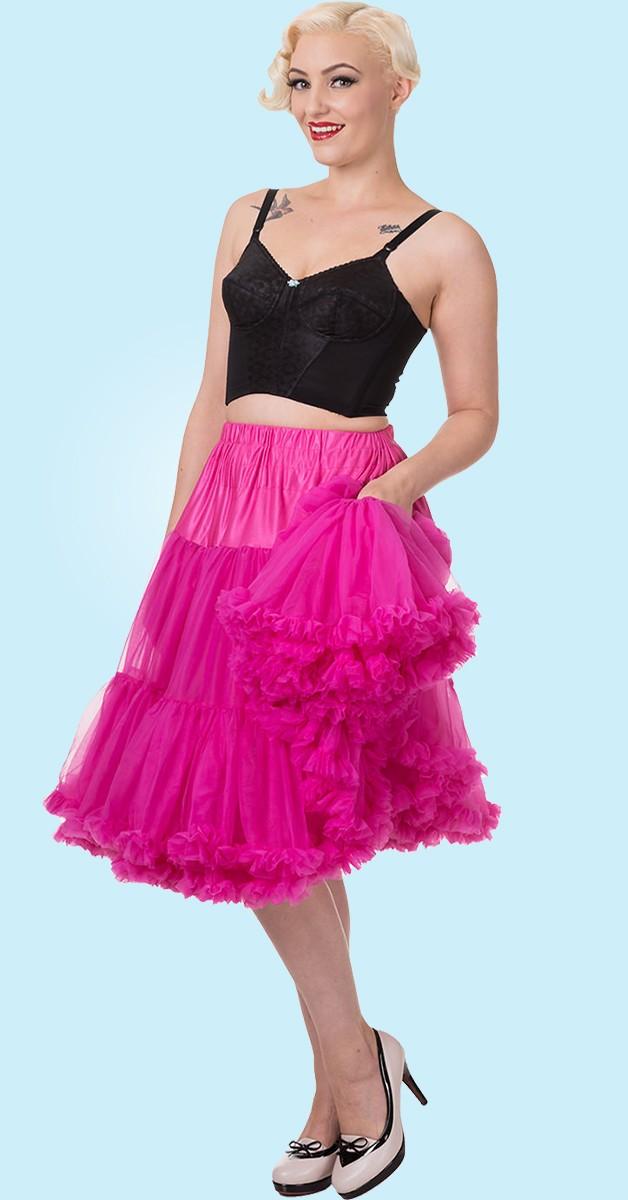 50s Style Swing Rockabilly Dance Petticoat - Pink