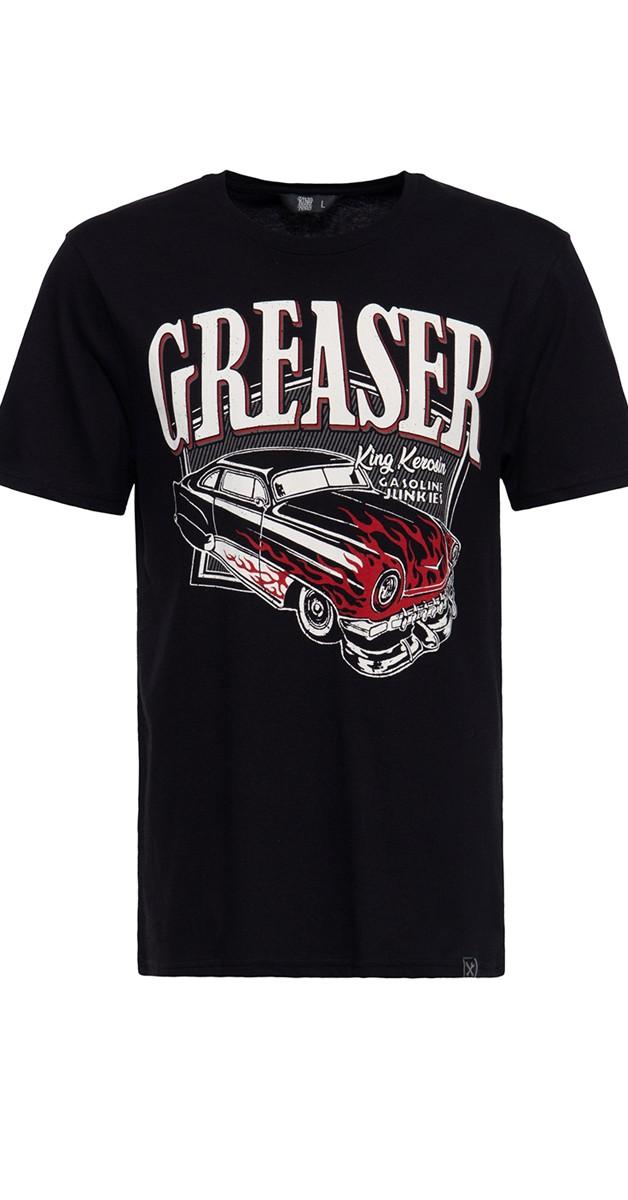 Rockabilly Clothing - T-Shirt - Gasoline junkies