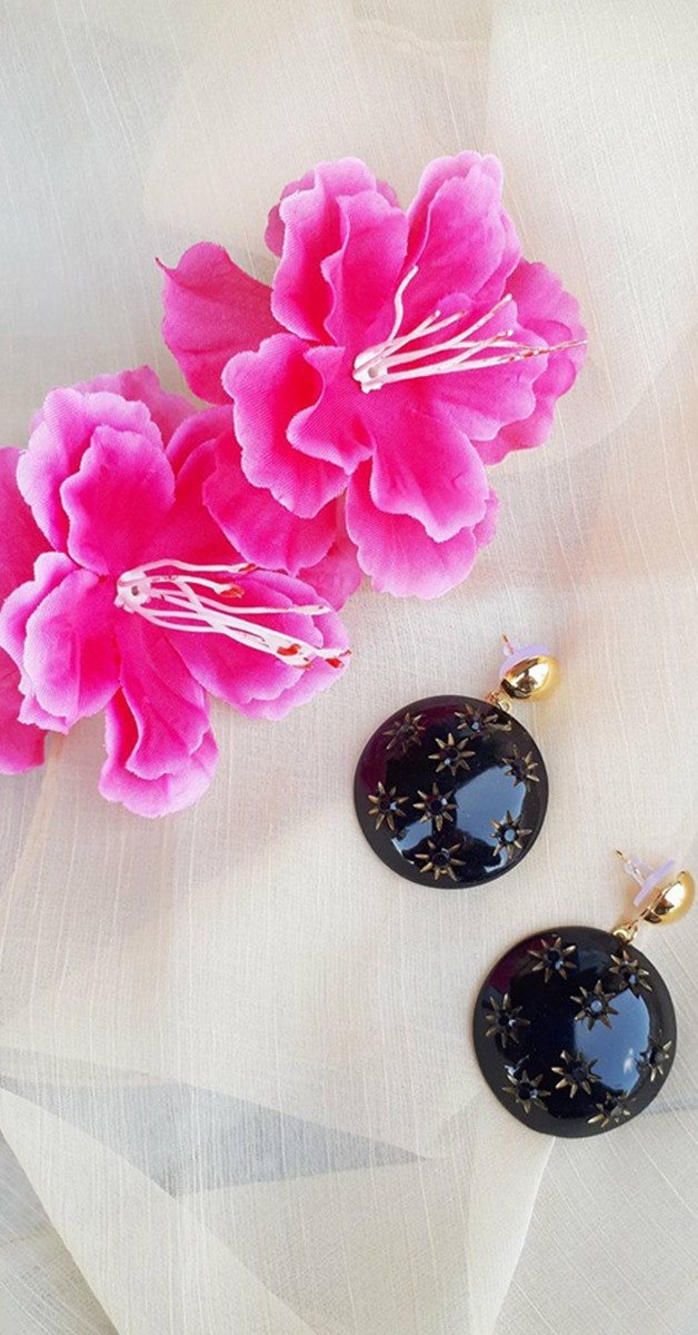 Vintage Jewelry - Greta Drop Earring - Black