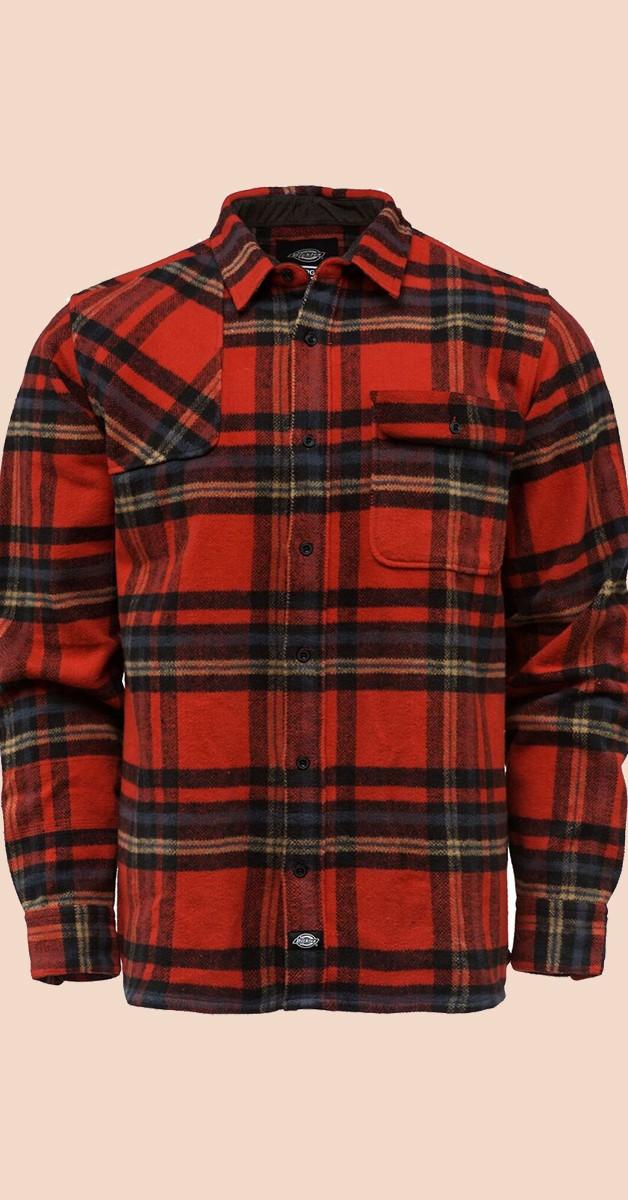 Dickies Shirt - Rockabilly Fashion - Prestonburg - Red