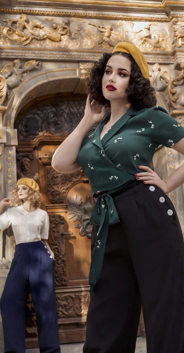 Vintage Kleidung - 40s Swing Pants - Schwarz - Audrey