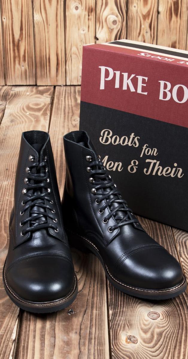 Vintage Boots 1966 Low Quarters in schwarz