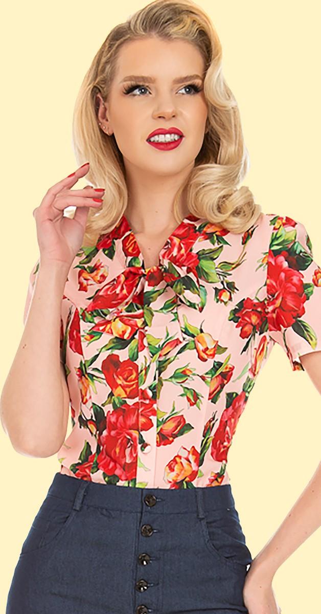 Vintage Stil Bekleidung - 50s Bluse- Francesca