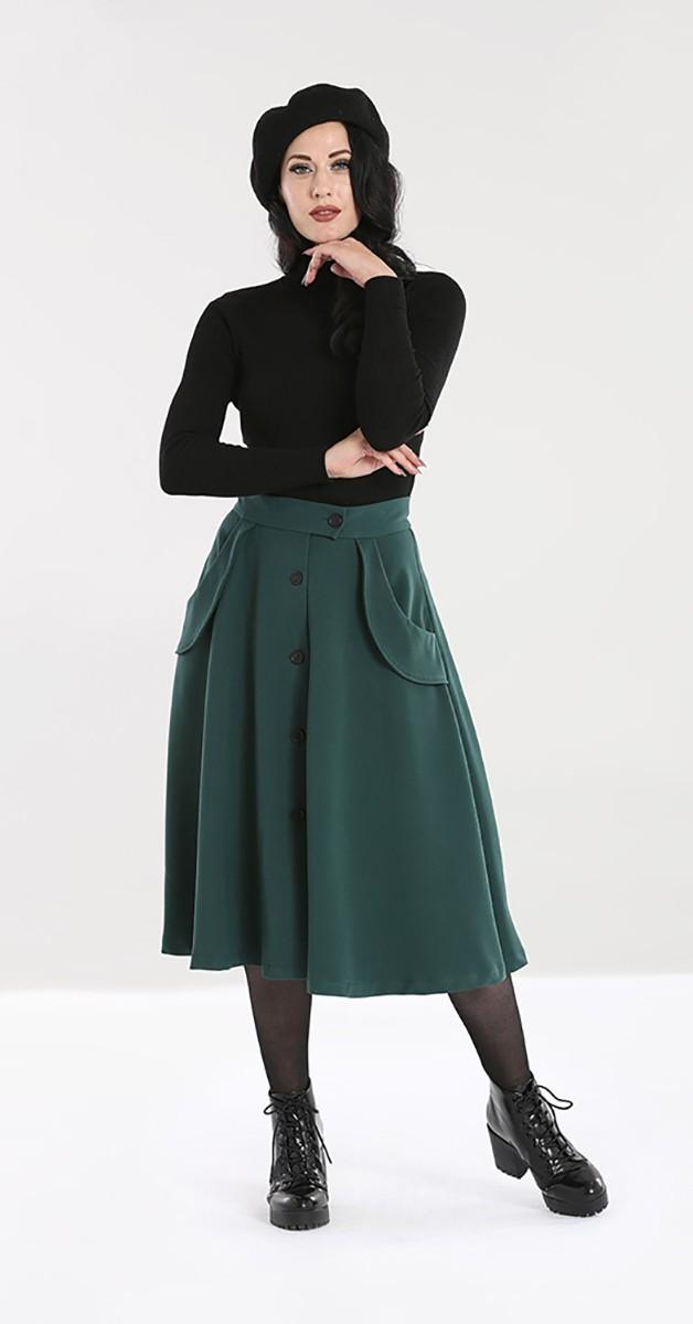 Vintage Fashion -Swingskirt - Carlie Skirt - Forest Green