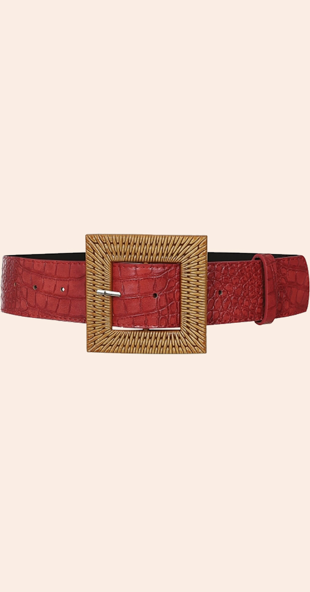 Vintage Accessoire-Summer Rattan Belt