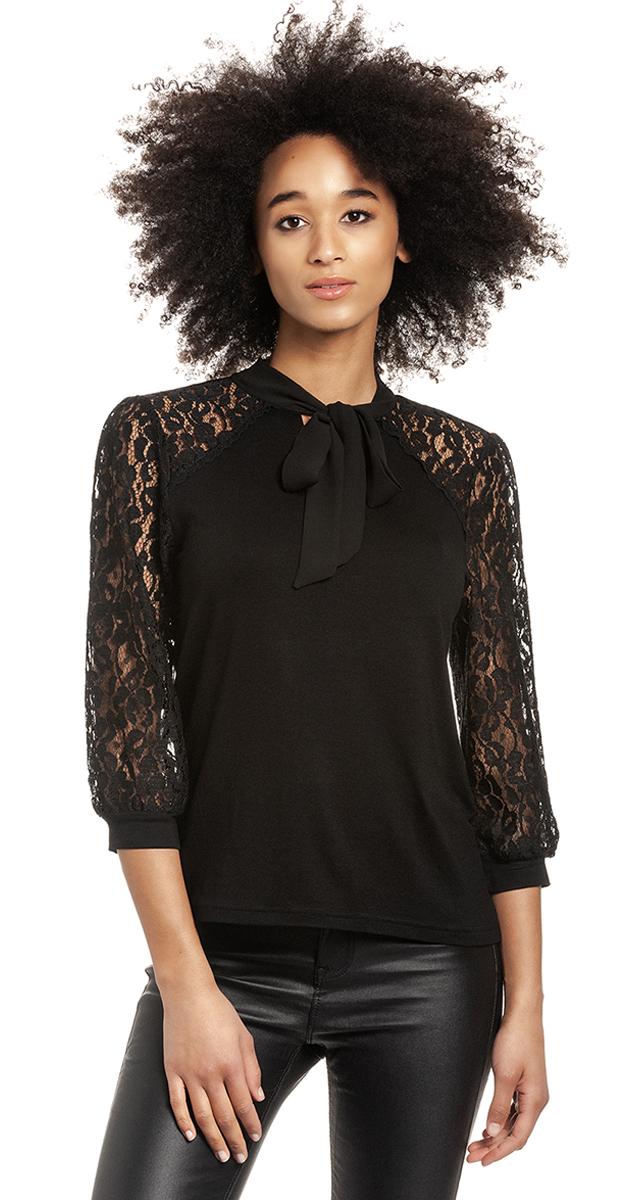 Retro preppy lace blouse
