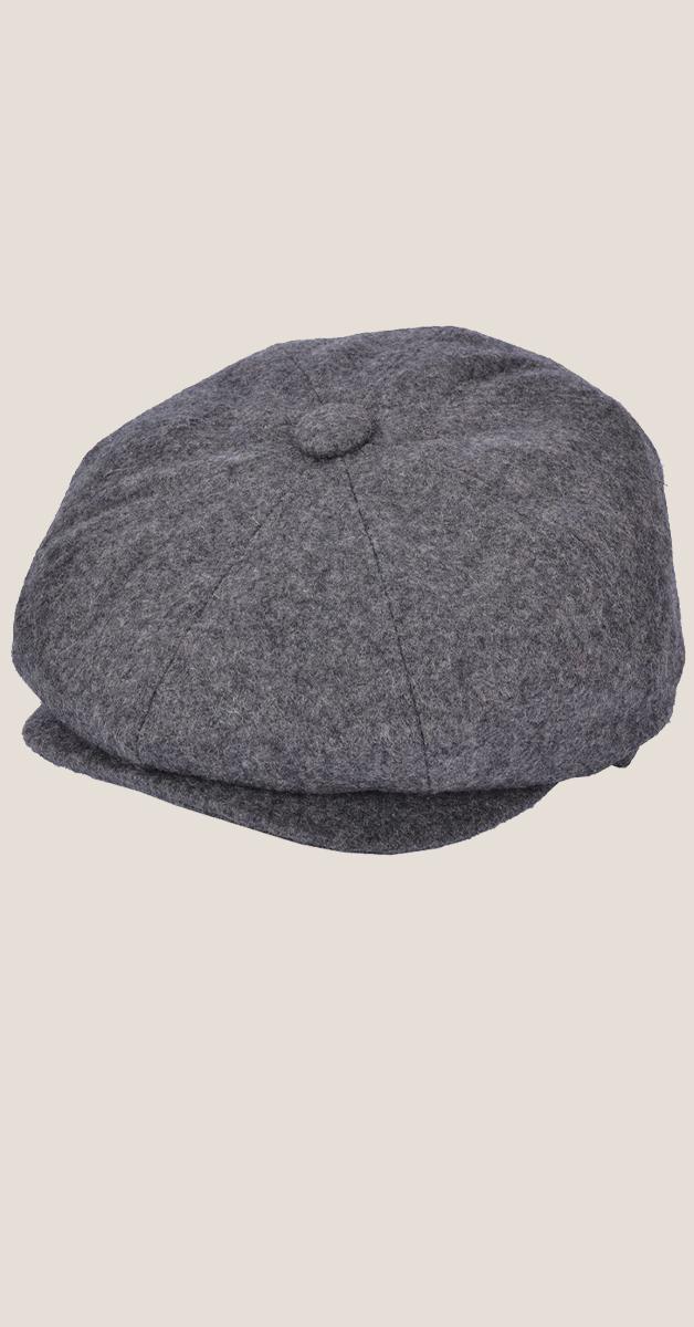 Vintage Accessoire - Wool Newsboy Cap- grau