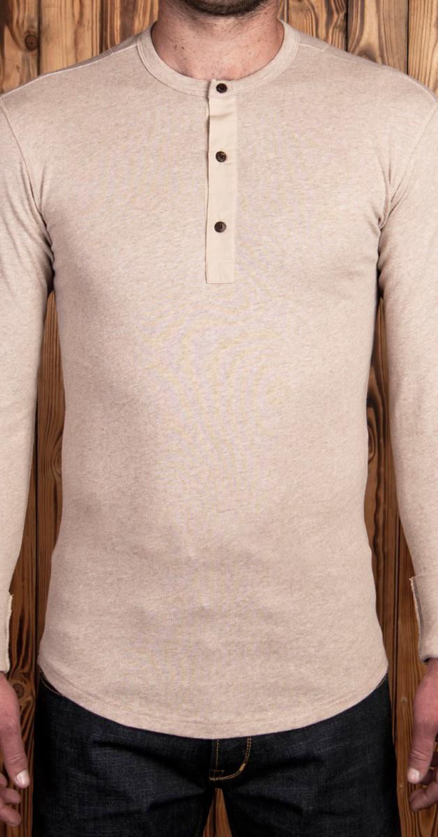 Vintage 1927 Henley Shirt Longsleeve in Oatmeal