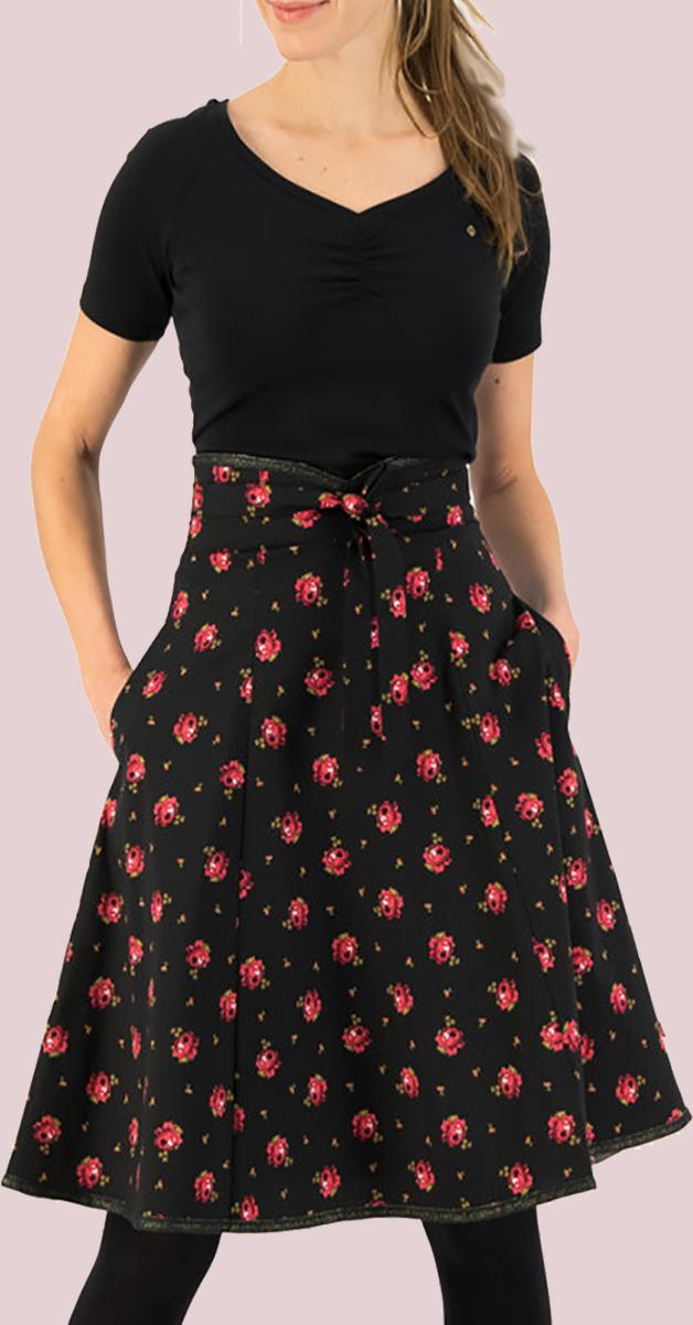 Vintage style skirt- Harvest moon belladonna