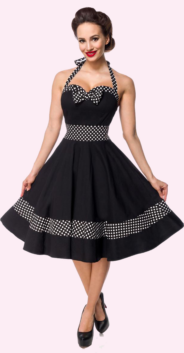Retro Dress with Neckholder and Dots