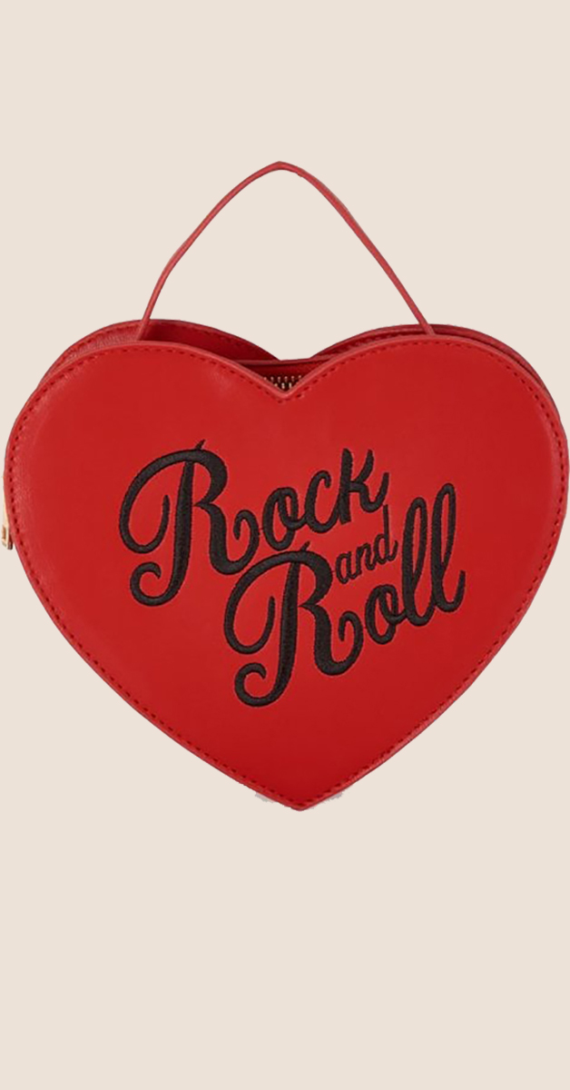 Rockabilly Accessoire-Handtasche Bina Rock and Roll- Rot