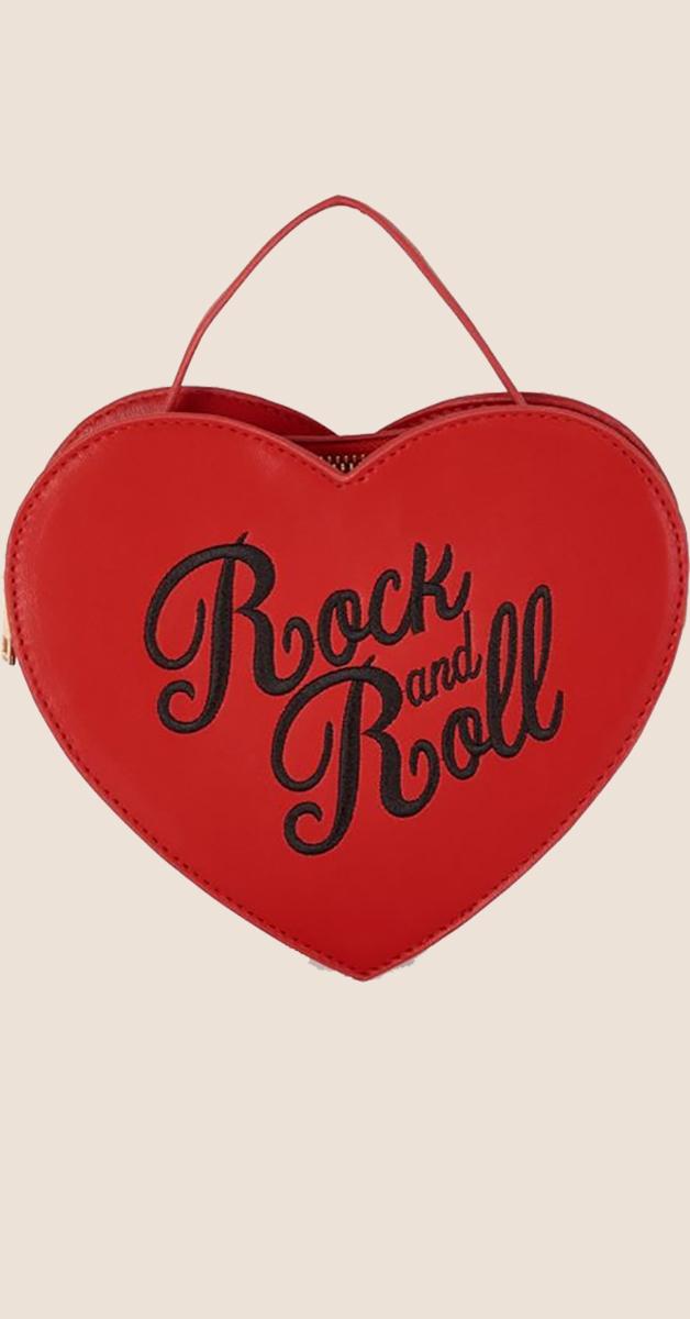 Rockabilly Accessoire- Bina Bag, Rock and Roll- Rot